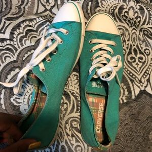 Turquoise Vintage Flat Converse.